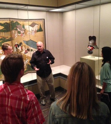 Prof. Leonard lecturing in museum